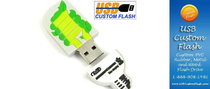 light bulb Custom PVC Rubber USB Flash Drives