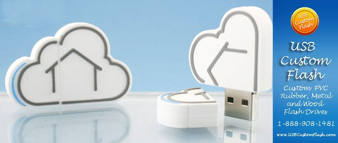 cloud Custom PVC Rubber USB Flash Drives