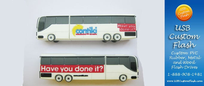 contiki usb custom rubber pvc flash drives