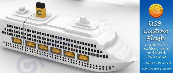 crusie ship usb custom rubber pvc flash drives