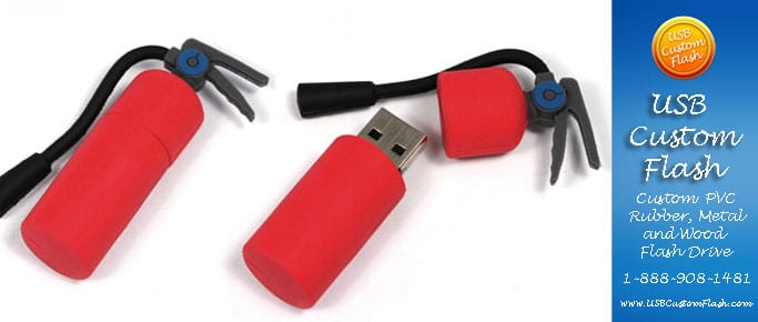 Extinguisher Custom USB PVC Rubber flash drives