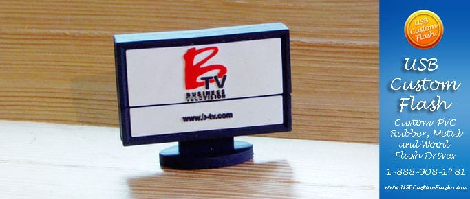 Flat-screen Custom USB PVC Rubber flash drives