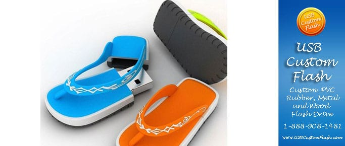 sandals Custom USB PVC Rubber flash drives