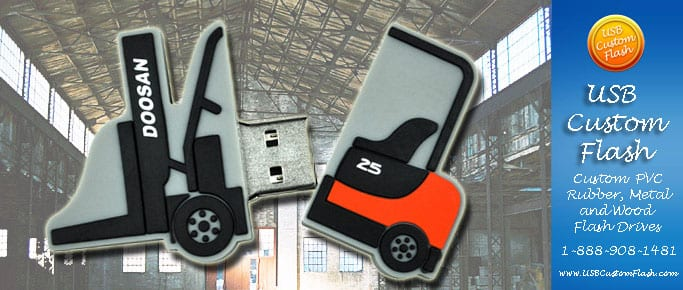 fork lift usb custom rubber pvc flash drives