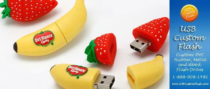 Fruit Custom USB PVC Rubber flash drives
