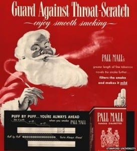 santa smoking