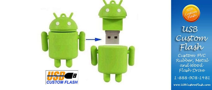 droid_Custom_Rubber_USB_Flash_Drives
