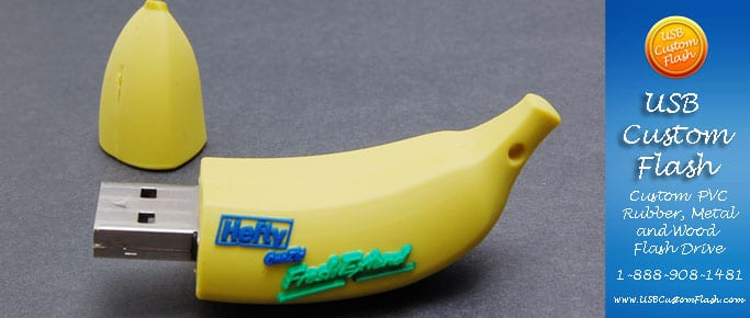 banana_Custom_Rubber_USB_Flash_Drives