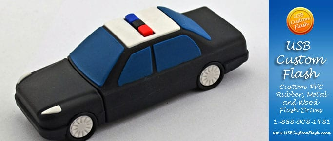 police _Custom_Rubber_USB_Flash_Drives