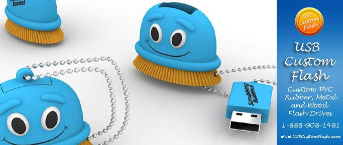 scrubbing bubbles shaped Custom shaped USB Flash Drive