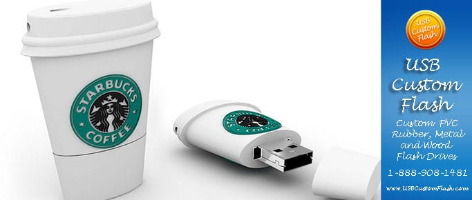 starbucks Custom shaped USB Flash Drive