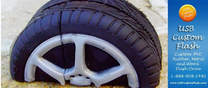 Tire Custom shaped USB Flash Drive