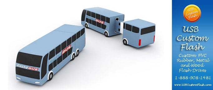 Bus Custom shaped USB Flash Drive