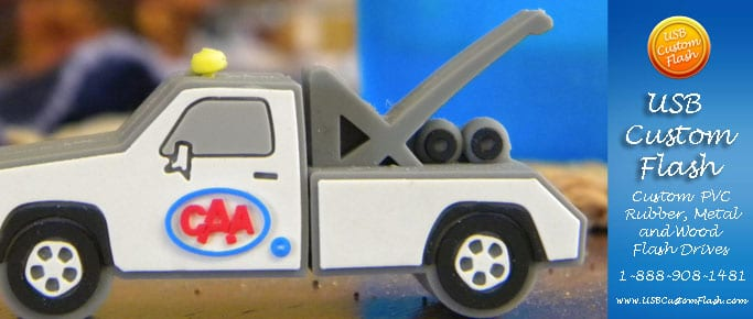 Tow truck Custom shaped USB Flash Drive