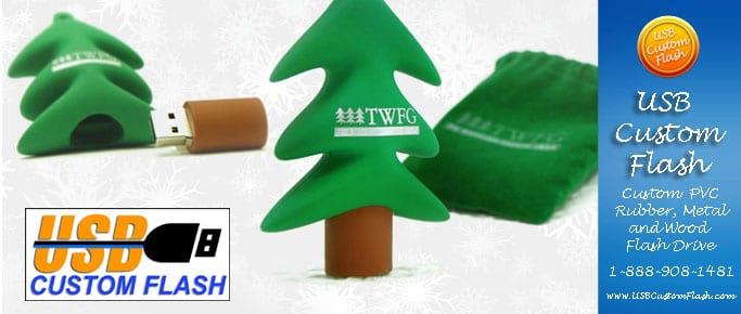 Tree Custom shaped USB Flash Drive