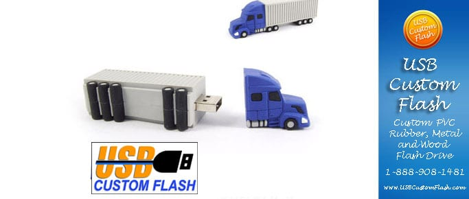 Truck Custom shaped USB Flash Drive