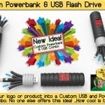 powerbank flash drive combo