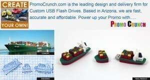 ship shaped custom flash drives