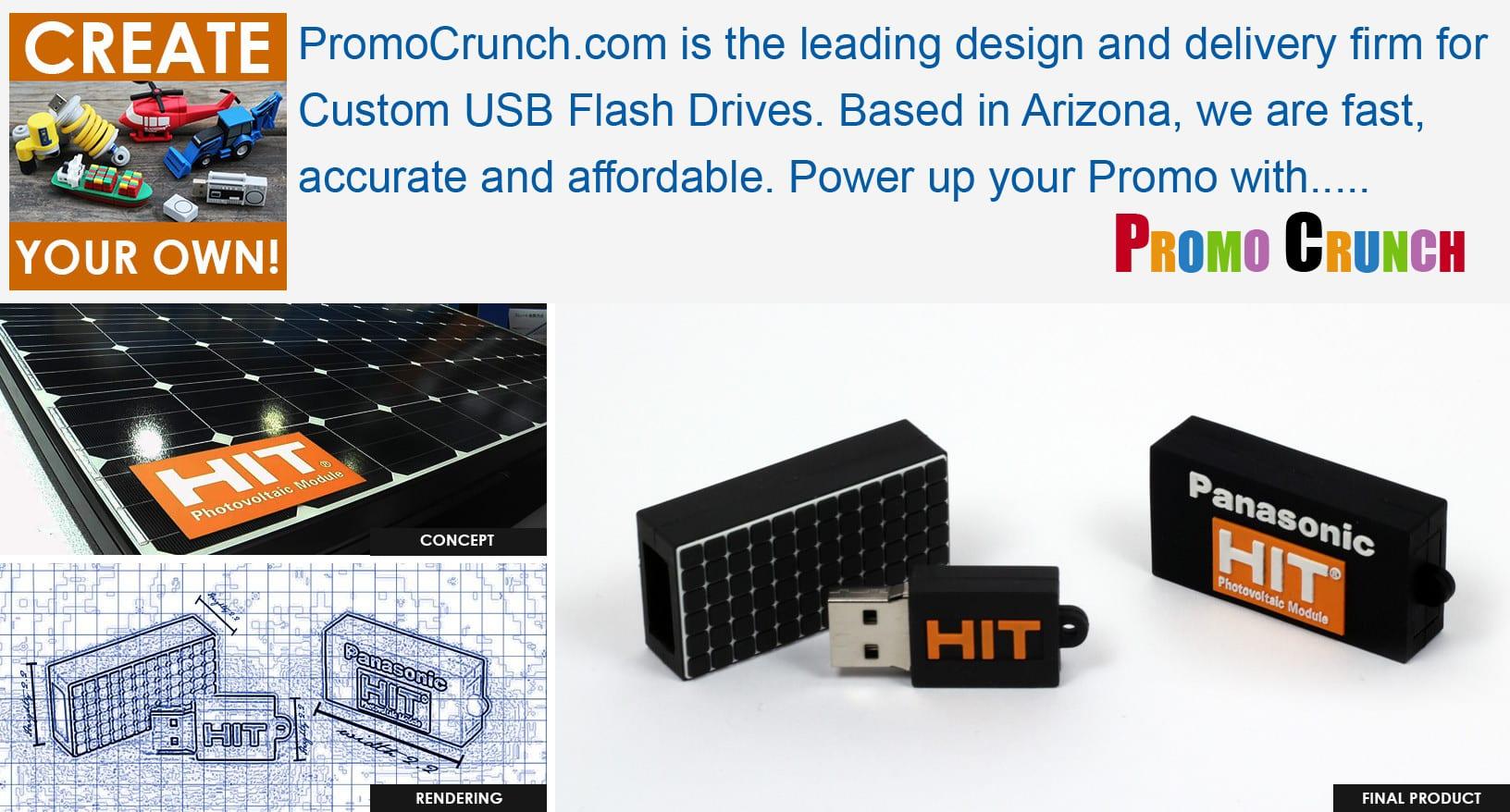 Solar Panel Shaped Custom Flash Drive