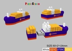 container ship USB flash drive memory stick