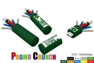 cable wire shaped flash drive for marketing and trade shows