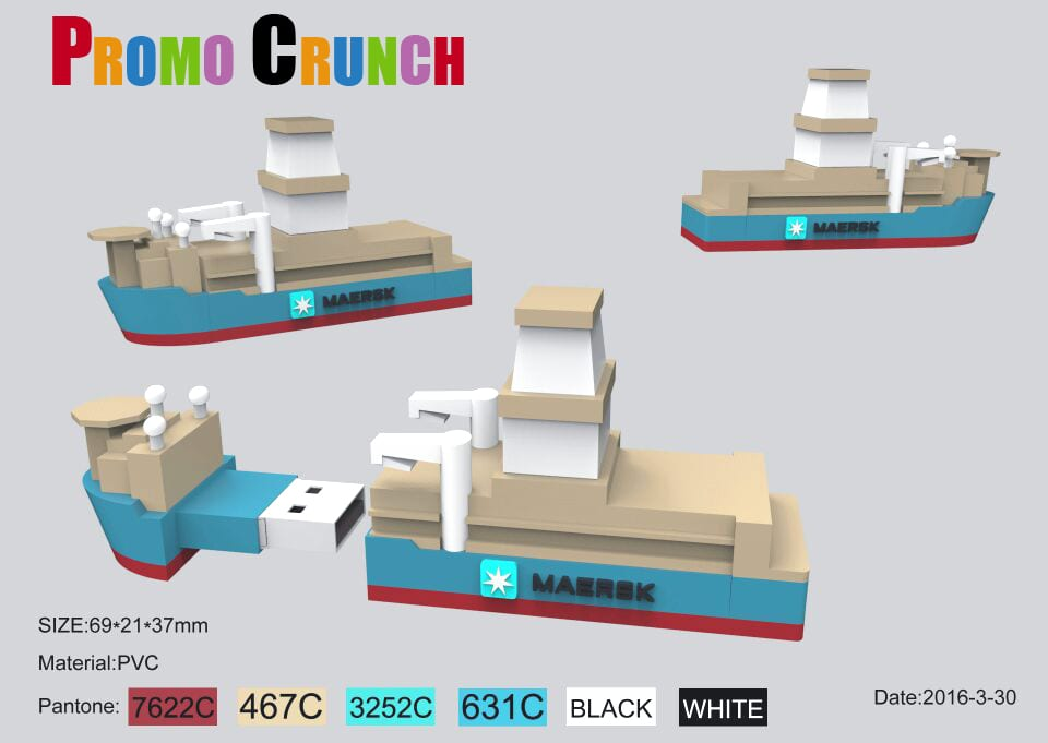 cargo container ship flash drive