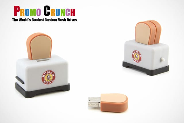toaster and bread custom shaped USB flash drive for marketing and promotion
