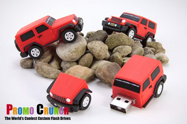 jeep shaped custom usb flash drive