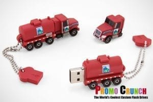 tanker truck custom molded USB flash drive