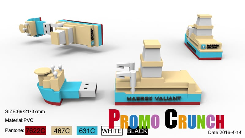 cargo and container ship flash drive