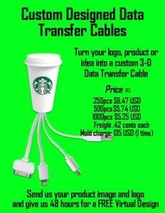 3D data transfer cable flyer coded