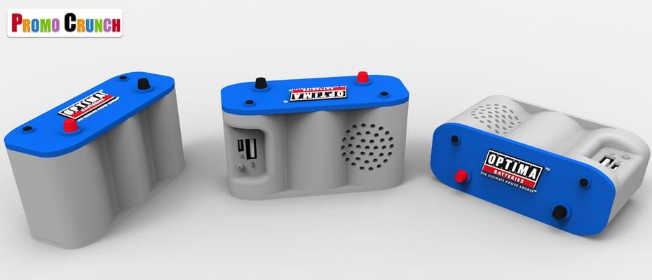 custom shaped bluetooth speaker and power bank combo