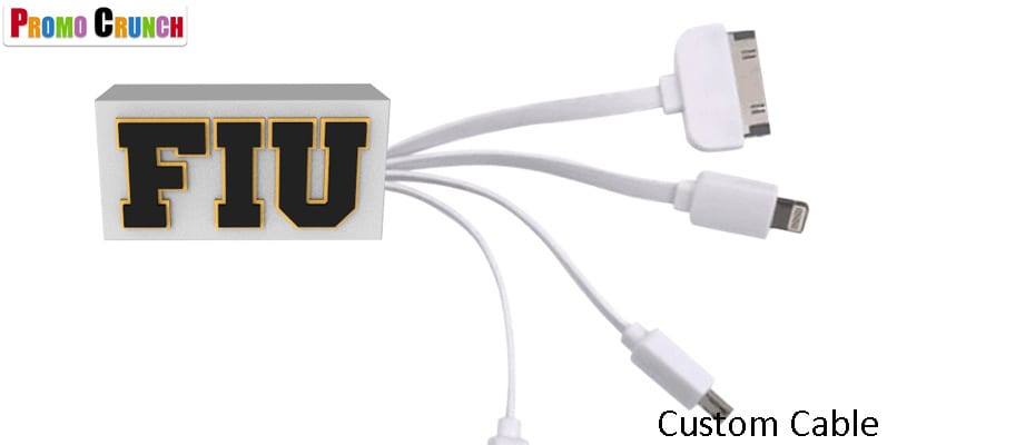 turn your product, logo or idea into a custom data charging cable promotional product.