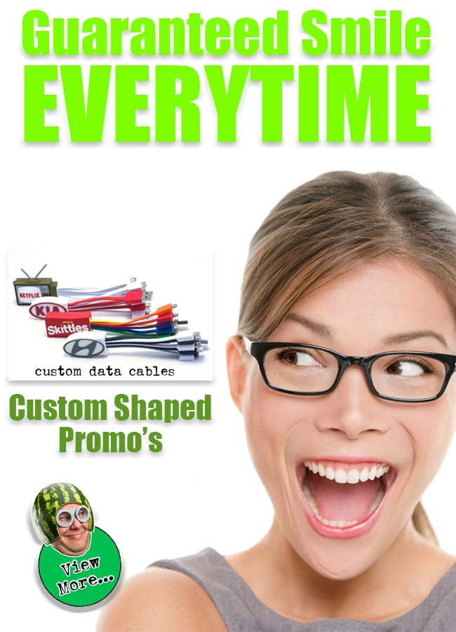 Custom shaped promotional products