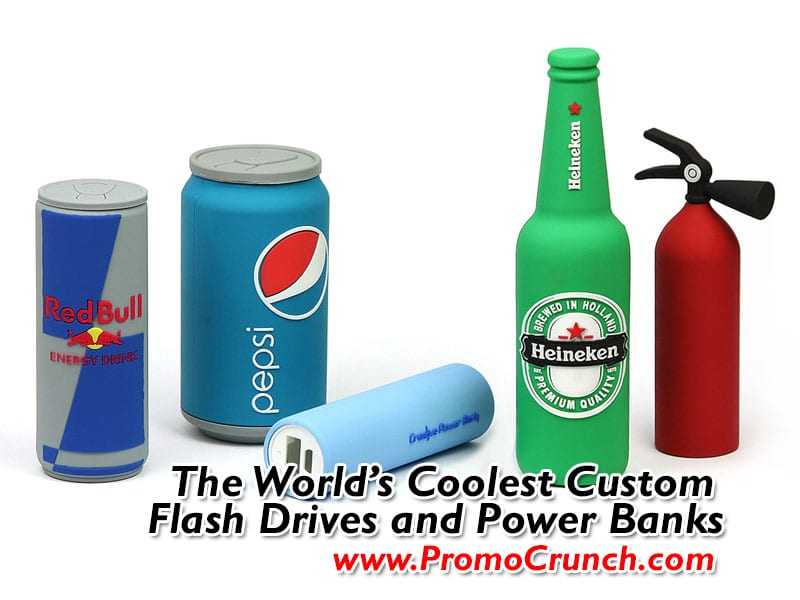 promotional product swag and tradeshow giveaways. Get a custom usb custom pvc power banks for marketing and promotional needs.