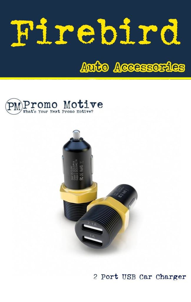 USB phone charger connector promotional product black and gold