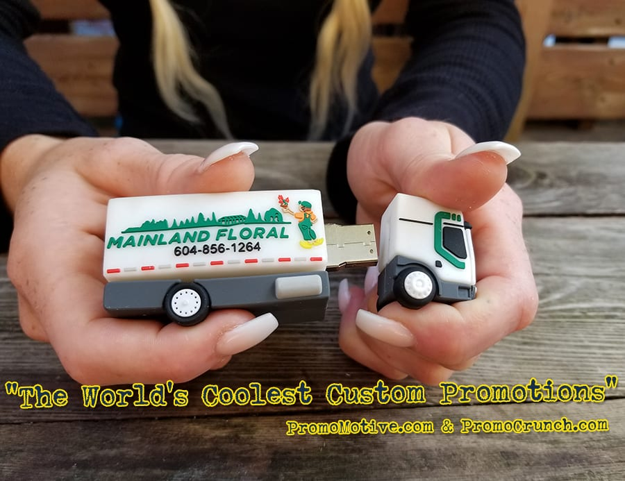 truck custom shaped usb memory sticks and bespoke flash drives