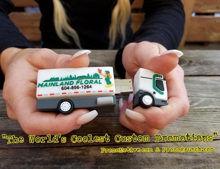 truck custom shaped usb memory sticks and bespoke flash drives