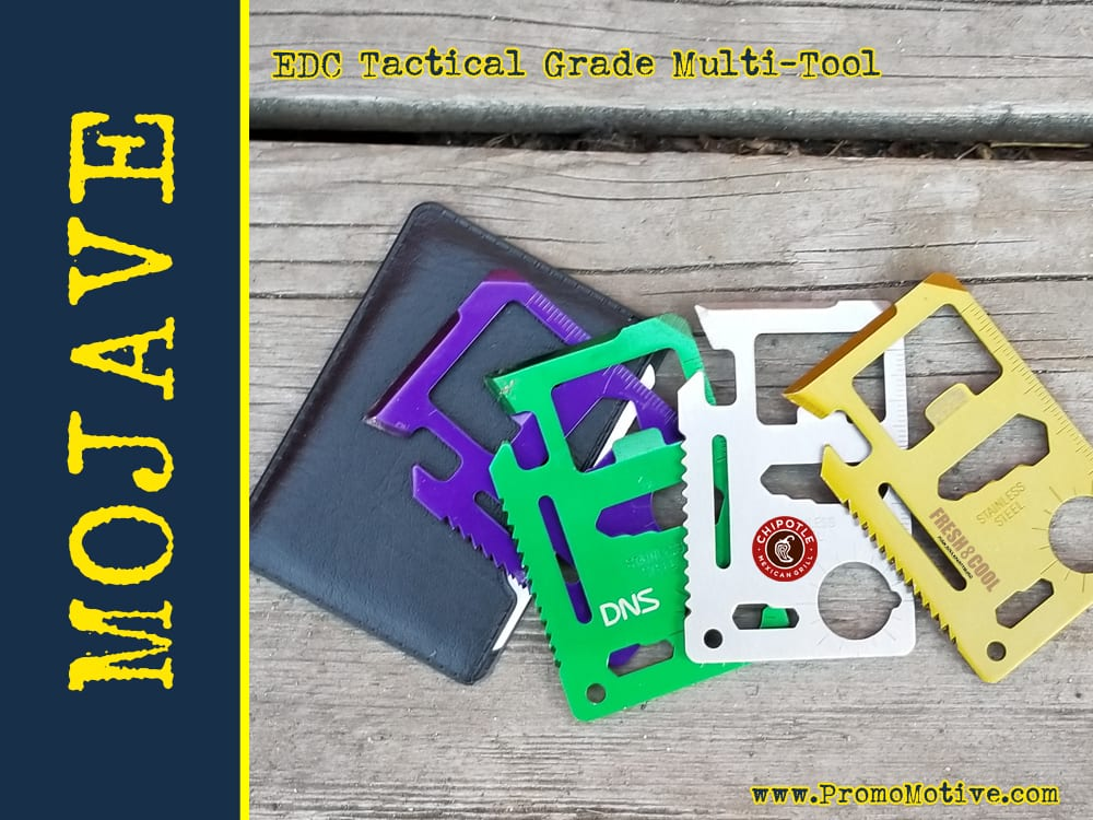 Wallet Ninja edc multi tool for tradeshows, promo swag and b2b marketing