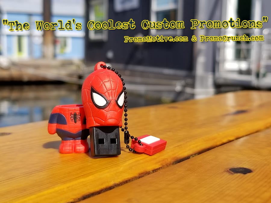 spiderman custom shaped usb memory sticks and bespoke flash drives