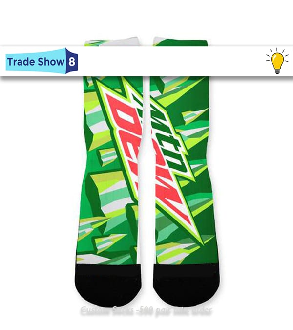 fb57ad4d4d8f Mountain Dew Fans Do the Dew in these Bold Custom Socks
