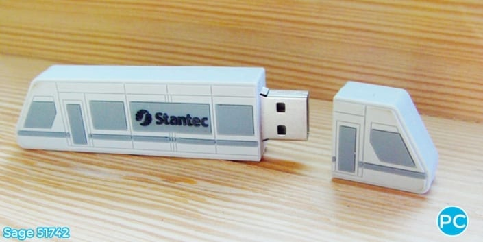 Train shaped custom 3D USB Flash Drive | Wholesale Promotional Product| Promo Crunch, The World's best custom shaped flash drives.