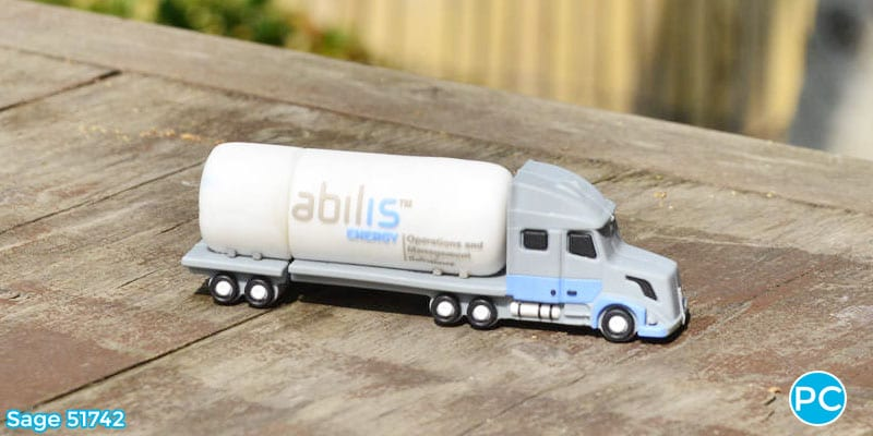 Tanker truck shaped custom 3D USB Flash Drive | Wholesale Promotional Product| Promo Crunch, The World's best custom shaped flash drives.
