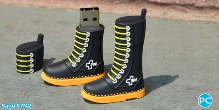 Shoe shaped custom 3D USB Flash Drive | Wholesale Promotional Product| Promo Crunch, The World's best custom shaped flash drives.