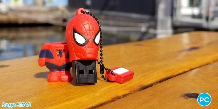 Spider Man shaped custom 3D USB Flash Drive | Wholesale Promotional Product| Promo Crunch, The World's best custom shaped flash drives.